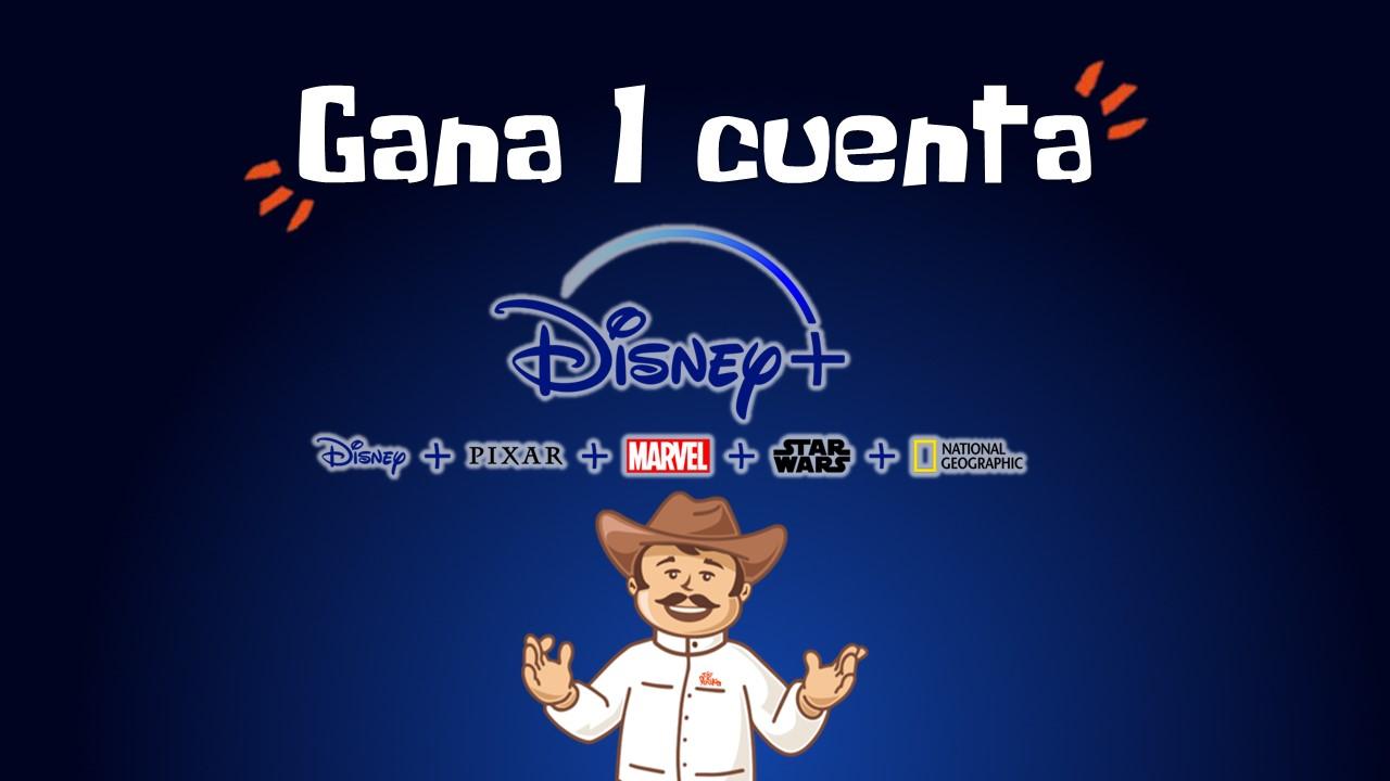 Sorteo cuenta Disney+   Condiciones y términos